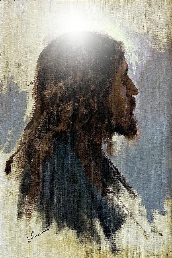 Color Digital Art - The Christ by John Feiser