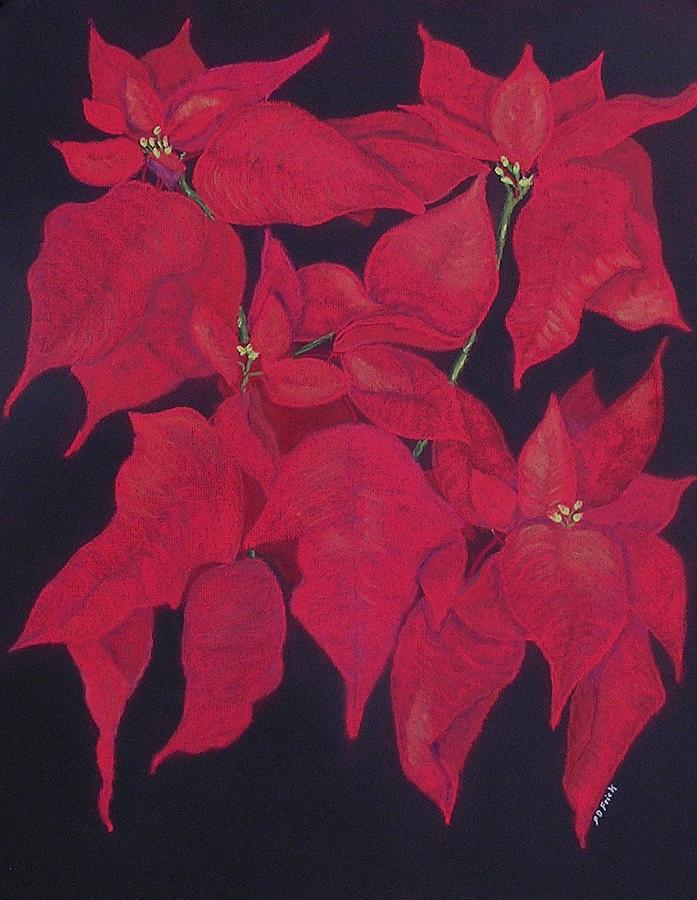 Poinsettias Pastel - The Christmas Gift by Diane Frick