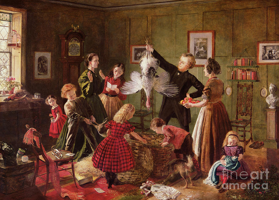 The Painting - The Christmas Hamper by Robert Braithwaite Martineau