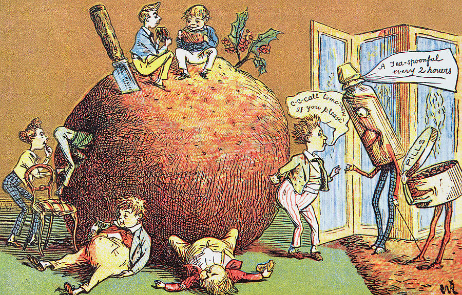 christmas pudding drawing the christmas pudding a victorian christmas card by english school