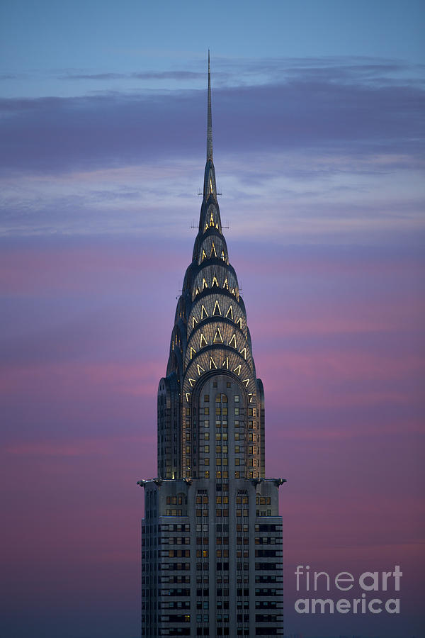 Chrysler Building Photograph - The Chrysler Building at Dusk by Diane Diederich