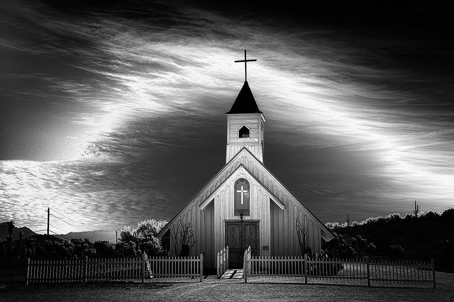 The Church At Apache Junction by Glen Boulier