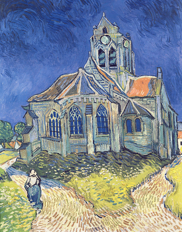 The Painting - The Church At Auvers Sur Oise by Vincent Van Gogh