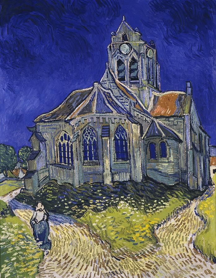 Vincent Van Gogh Painting - The Church At Auvers by Van Gogh