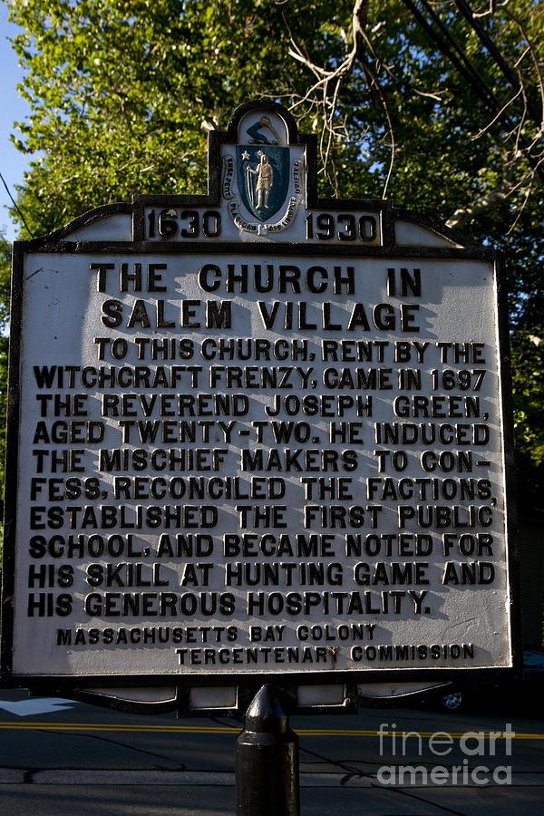 The Church In Salem Village Photograph