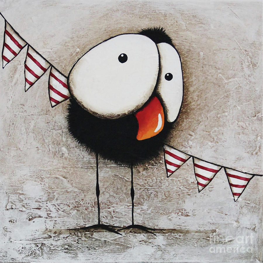 Crow Painting - The Circus Crow Four by Lucia Stewart