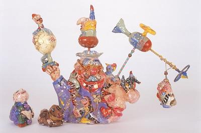 Master Mixed Media - The Circus Merry-go-round by Mirel Goldenberg