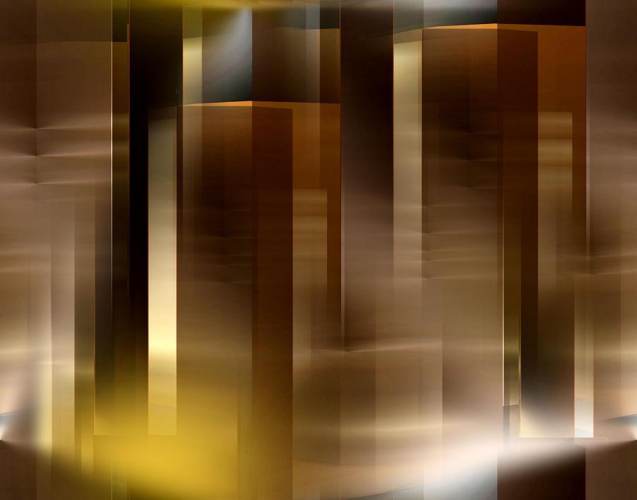 Abstract Digital Art - The City At Night 2 by John Krakora