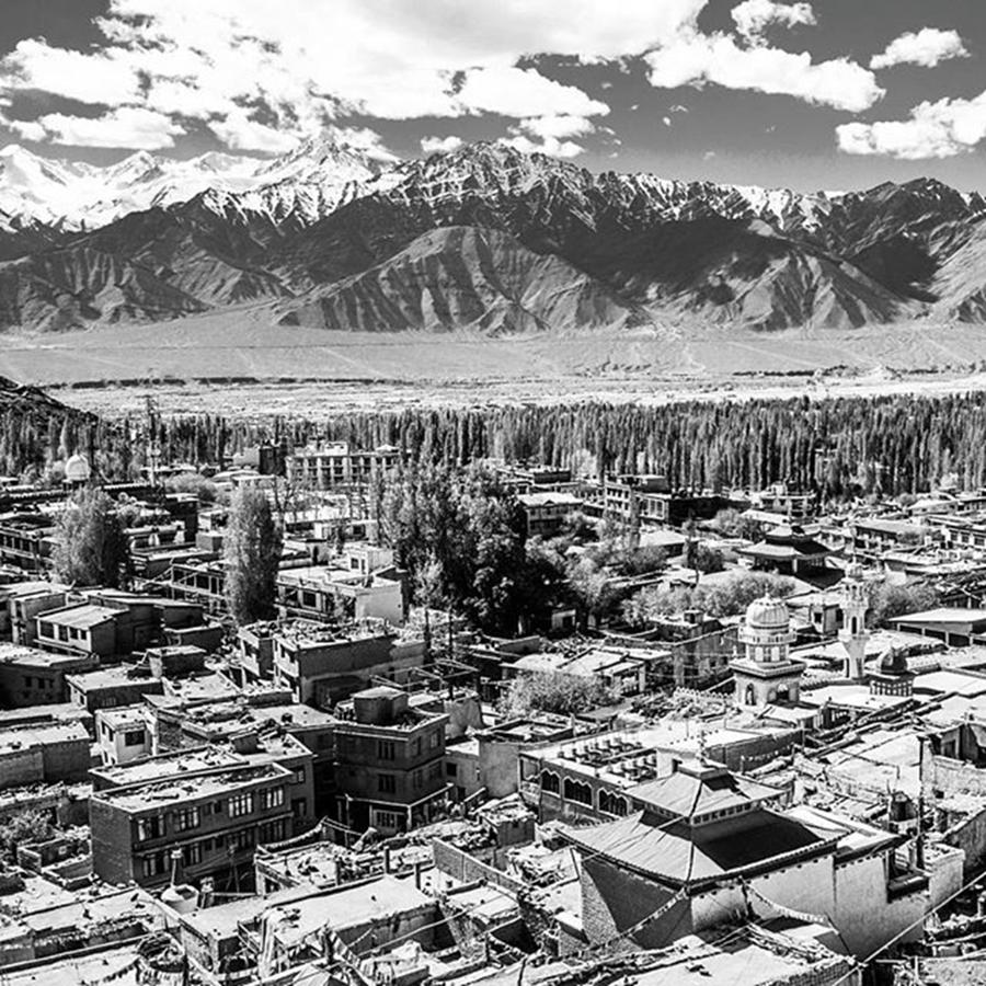 Mountain Photograph - The City Of Leh, From The Rooftops To by Aleck Cartwright
