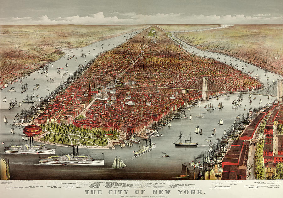 New York City Painting - The City of New York by American School