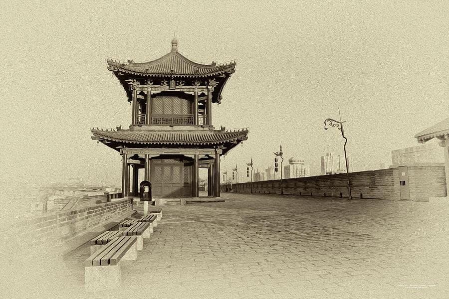 China Digital Art - The City Wall by Christopher Eng-Wong