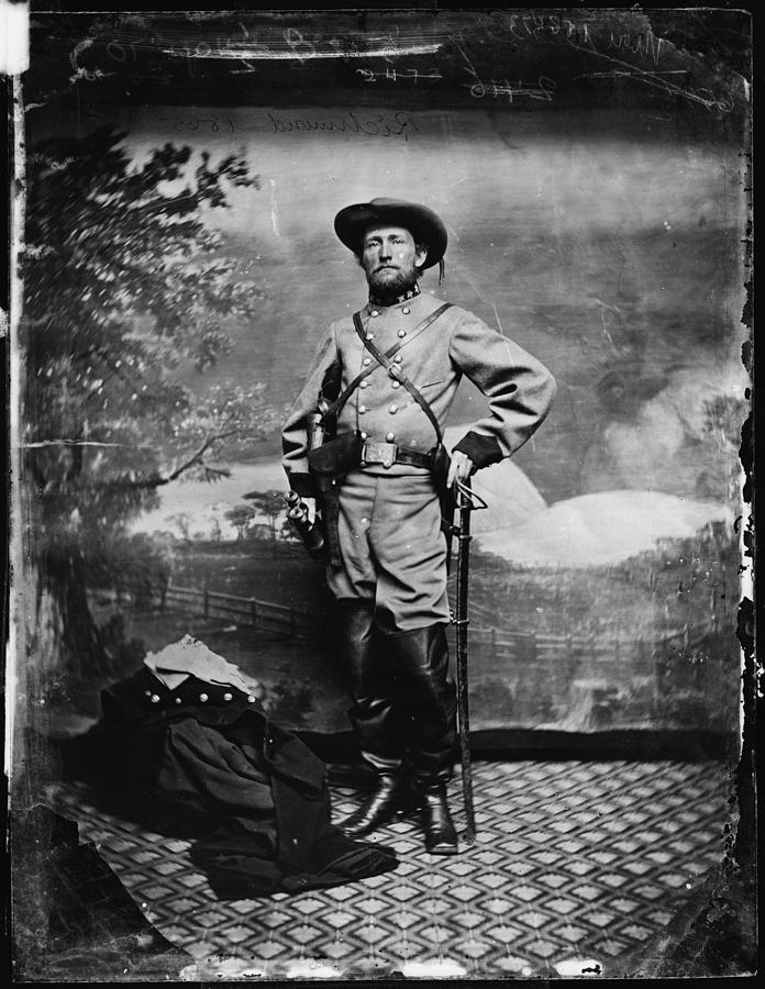 1860s Photograph - The Civil War, Colonel John S. Mosby by Everett