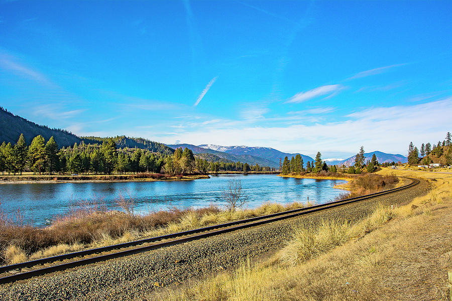 River Photograph - The Clark Fork at Mile 79 by Bryan Spellman