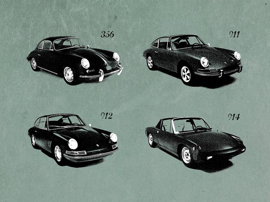 Porsche Photograph - The Classic Porsche Collection by Mark Rogan