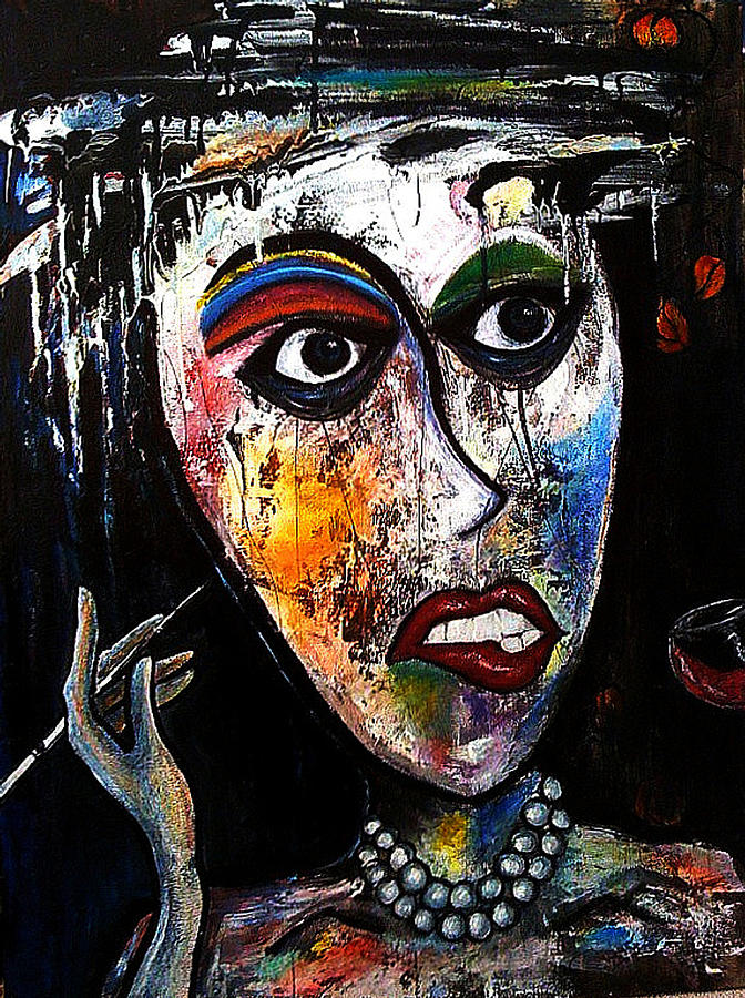 Lady Painting - The Cleaning Lady by Steffen  Anderson