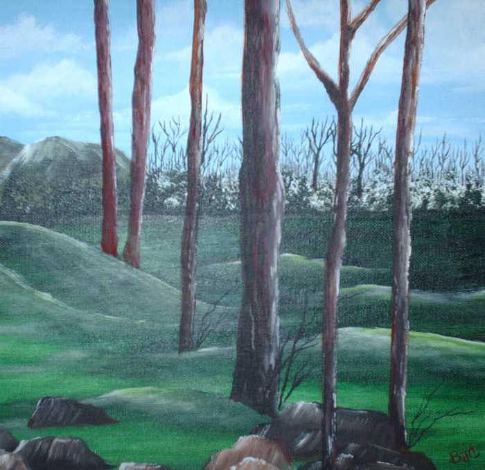 The Clearing Painting by Brenda Coster