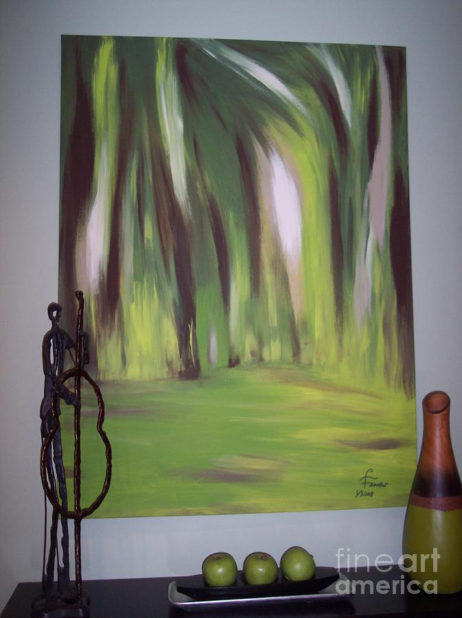 Abstract Painting - The Clearing by Lynda Farrow