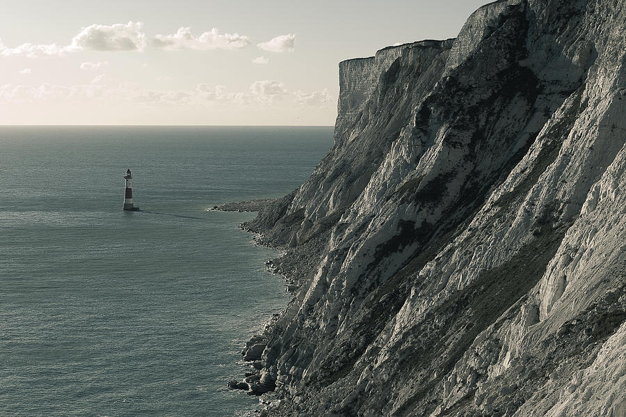 Landscapes Photograph - The Cliffs Of Beachy Head And The Lighthouse by Luka Matijevec