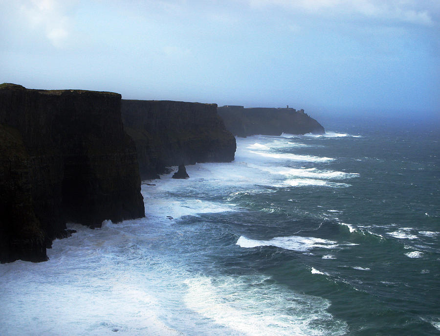 Cliffs Of Mohr Photograph - The Cliffs Of Mohr Ireland by Richard Singleton