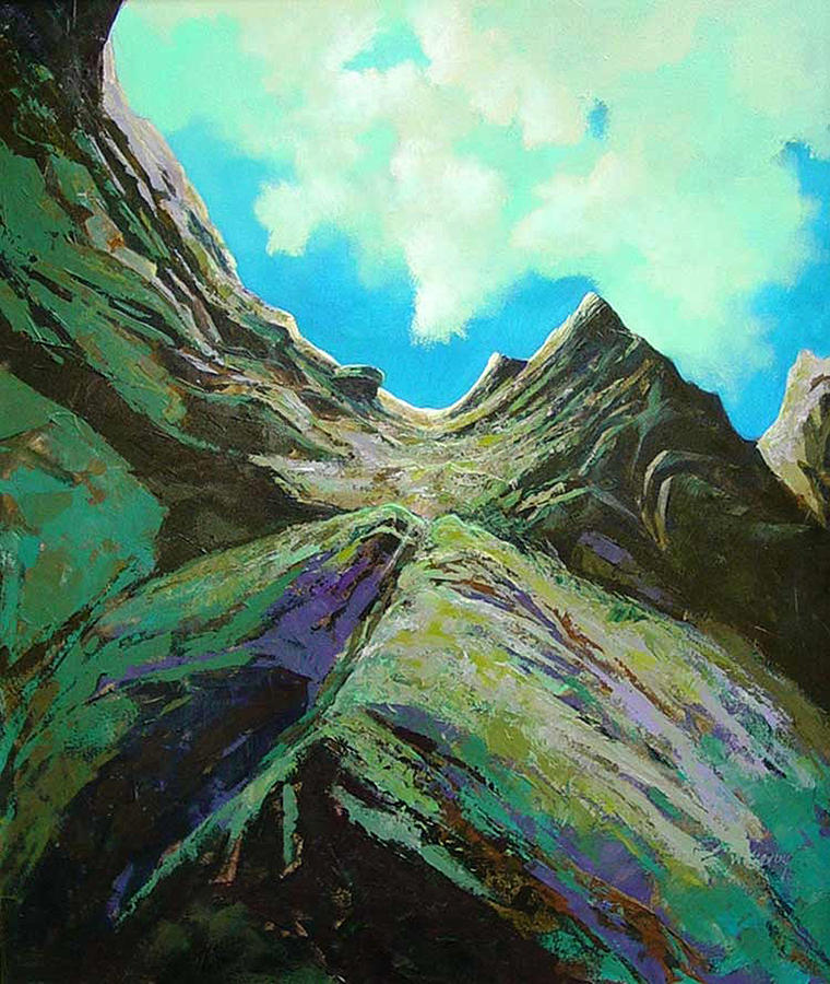 Landscape Painting - The Climb by Dale  Witherow
