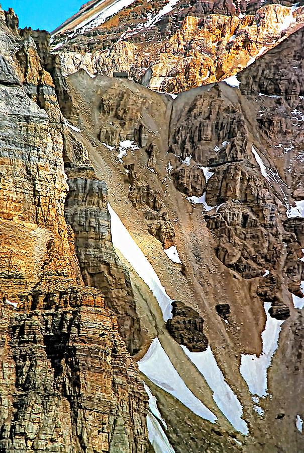 Canadian Rockies Photograph - The Climb To Abbots Hut by Steve Harrington