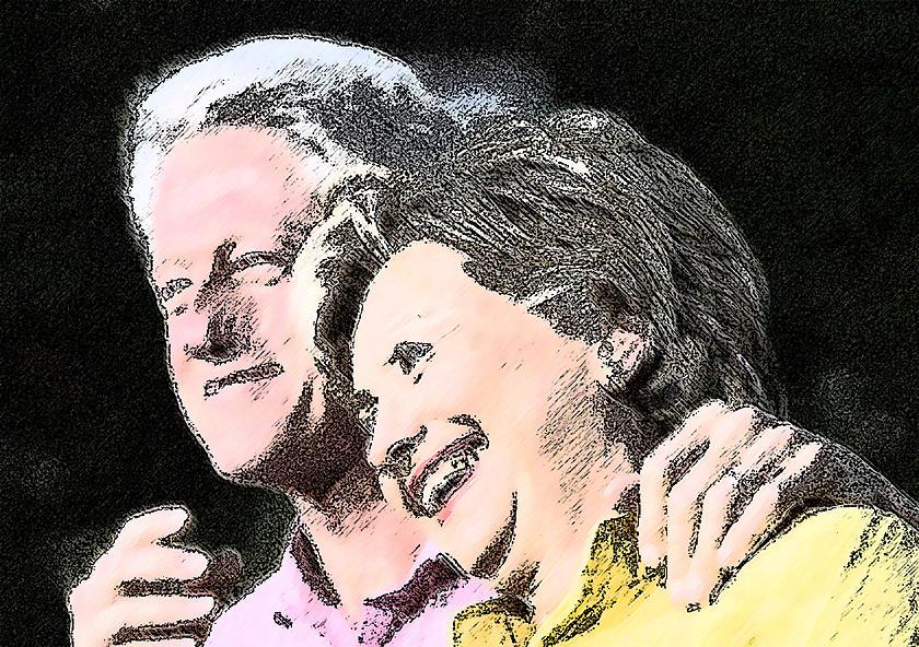 The Clintons Digital Art by Godwin Okafor