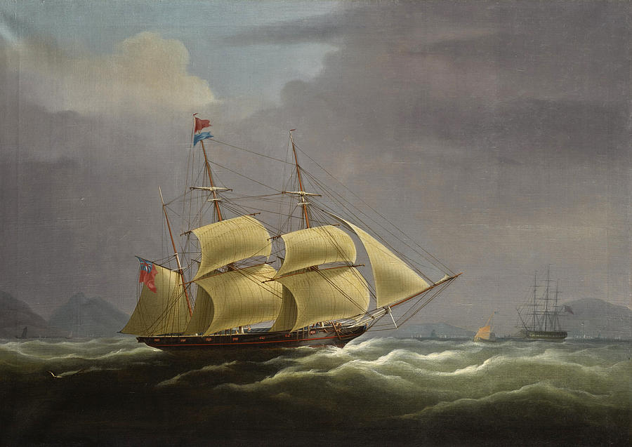 the clipper red rover off the china coast painting by william john
