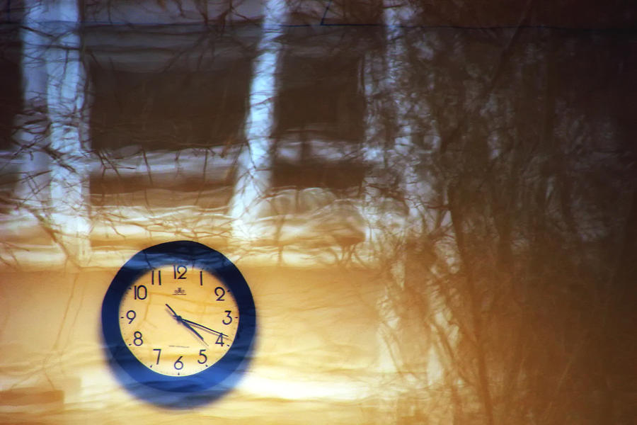 Clock Photograph - The Clock Of My Dreams Running Backwards by Marcus Hammerschmitt