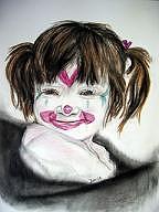 The Clown Drawing - The Clown by Marijeanne Davila