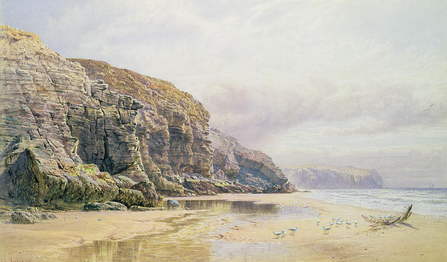 Coast Painting - The Coast Of Cornwall  by John Mogford