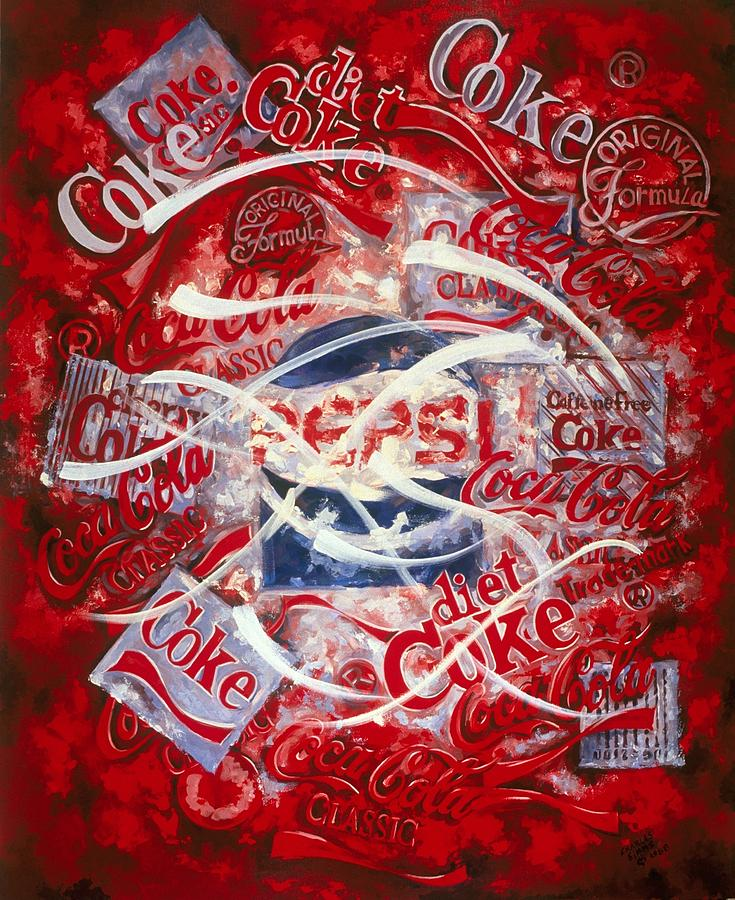 Coke Painting - The Coca Cola Affair by Charles Simms