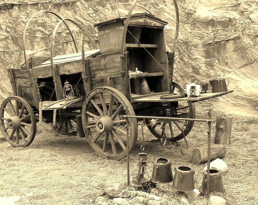 Old West Photograph - The Coffees Gittin Cold by Donna Parlow
