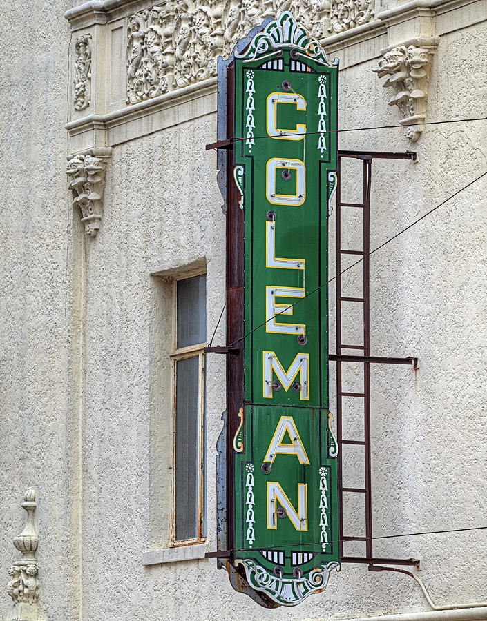 Miami Oklahoma Photograph - The Coleman Theater by JC Findley