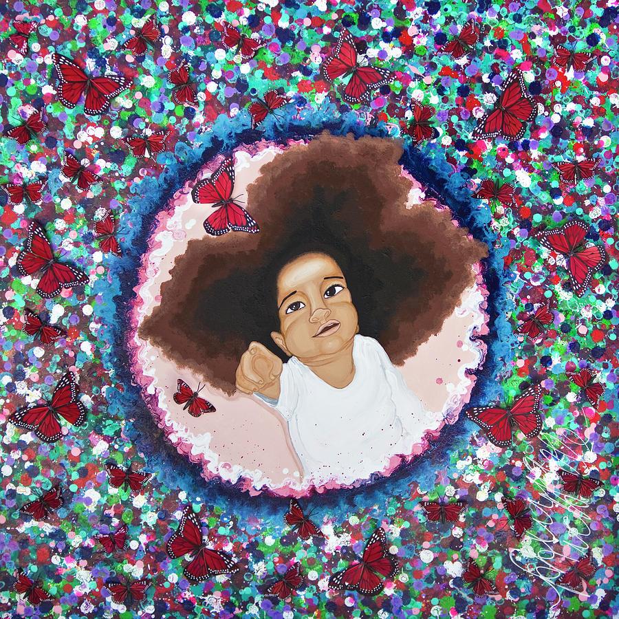 Aliya Painting - The Color Purple by Aliya Michelle