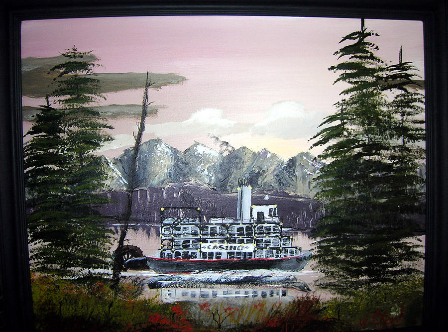 Boat Painting - The Colorado Queen by William Plank