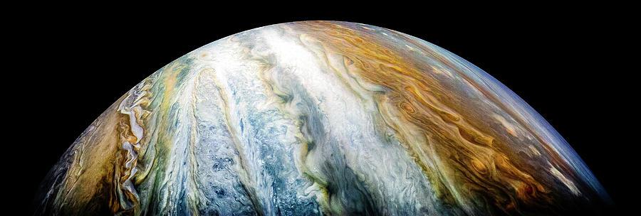 Juno Photograph - The Colorful Cloud Belts Of Jupiter by Nasa