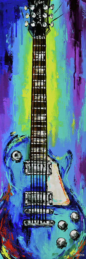Electric Guitar Painting - The colors of music. by Magda Magier