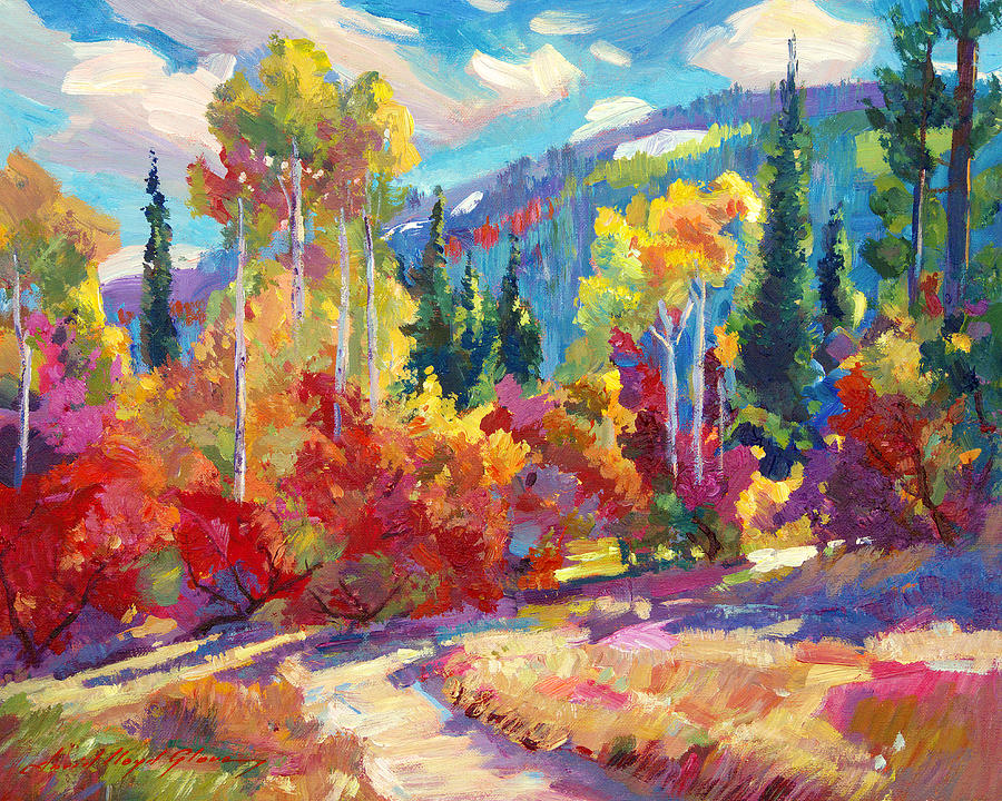 The Colors Of New Hampshire Painting By David Lloyd Glover