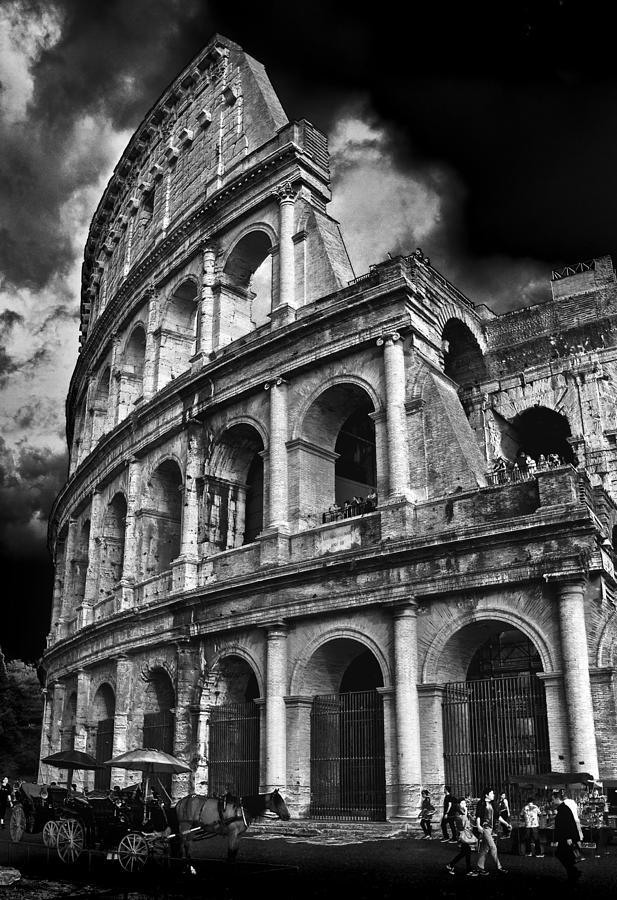 Colosseum Photograph - The Colosseum Rome by Darren Burroughs