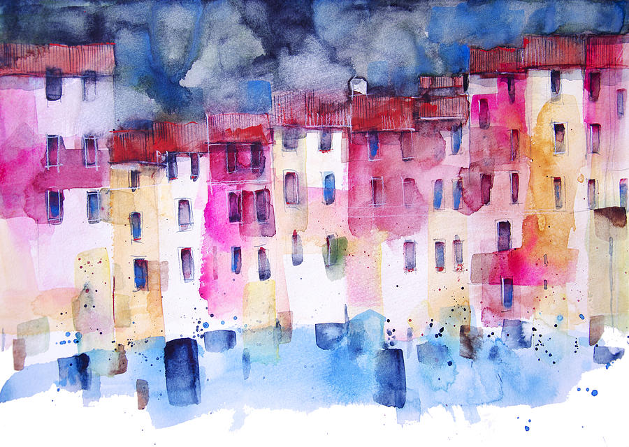 The coloured houses of Portofino by Alessandro Andreuccetti