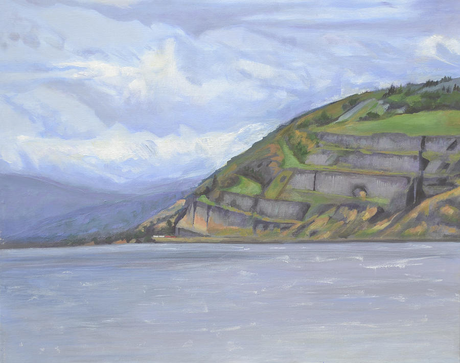 The Columbia River Gorge Painting - Heart of the Gorge by Mary Chant