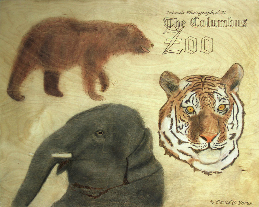 The Columbus, Oh Zoo Pyrography by David Yocum