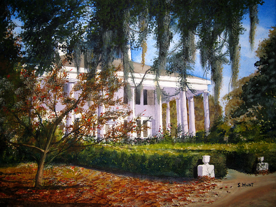 Columns Painting - The Columns by Shirley Braithwaite Hunt