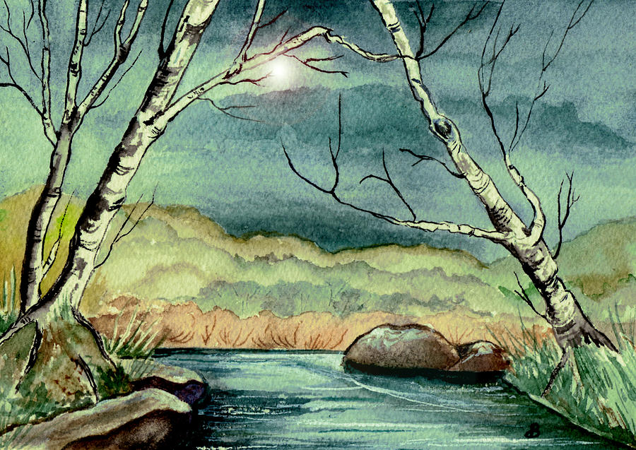 Watercolor Painting - The Coming Storm by Brenda Owen
