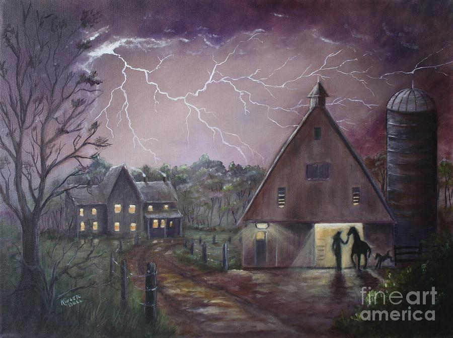 Lightning Painting - The Coming Storm by Marlene Kinser Bell