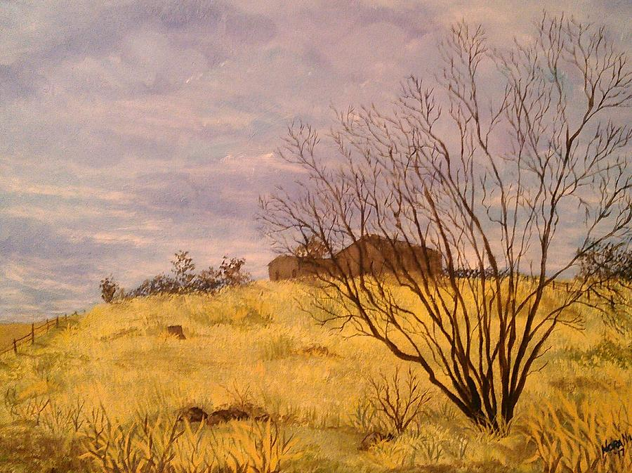 Landscape Painting - The Coming Storm by Nora Niles