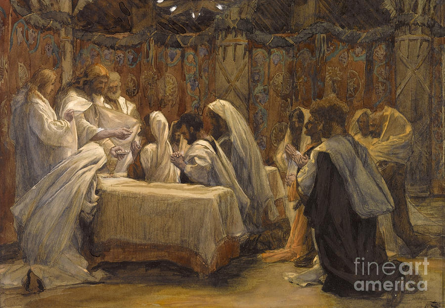 Tissot Painting - The Communion Of The Apostles by Tissot