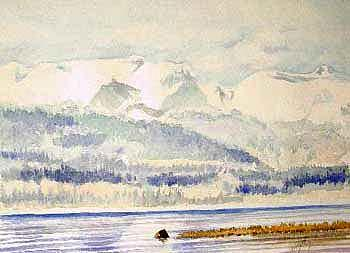 The Comox Glacier Painting by Tim Haley