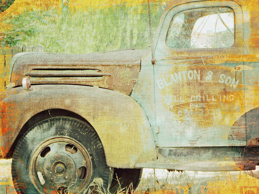 Old Truck Photograph - The Company Truck by KaFra Art