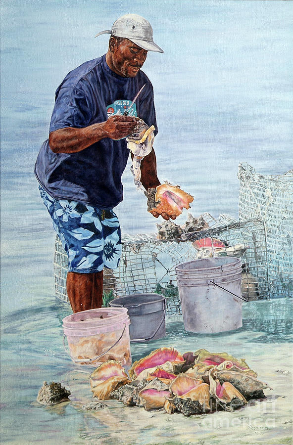 The Conch Man by Roshanne Minnis-Eyma